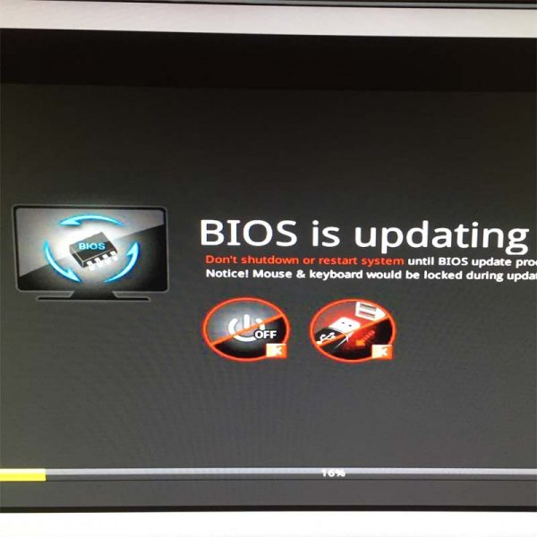 BIOS is updating